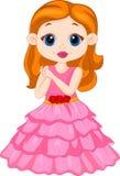 Desenhos animados bonitos da menina Fotos de Stock Royalty Free