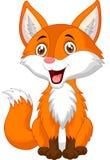Desenhos animados bonitos da raposa Foto de Stock