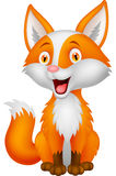 Desenhos animados bonitos da raposa Fotografia de Stock Royalty Free