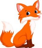 Desenhos animados bonitos da raposa Imagens de Stock