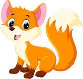 Desenhos animados bonitos da raposa do bebê ilustração do vetor