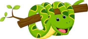 Desenhos animados bonitos da serpente ilustração stock