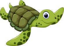 Desenhos animados bonitos da tartaruga de mar Fotos de Stock Royalty Free