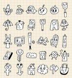 Desenhos animados bonitos da tração da mão Fotos de Stock Royalty Free