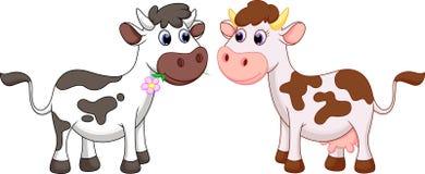 Desenhos animados bonitos da vaca ilustração royalty free