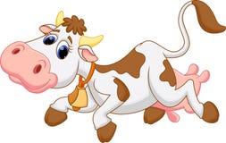 Desenhos animados bonitos da vaca ilustração do vetor