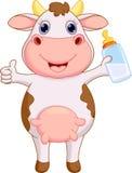 Desenhos animados bonitos da vaca do bebê ilustração do vetor