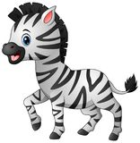 Desenhos animados bonitos da zebra Imagens de Stock