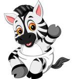 Desenhos animados bonitos da zebra do bebê Fotos de Stock