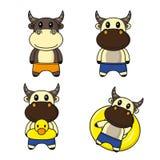 Desenhos animados bonitos do búfalo ilustração royalty free