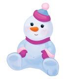 Desenhos animados bonitos do boneco de neve do bebê do vetor isolados Foto de Stock