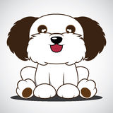 Desenhos animados bonitos do cão Imagens de Stock