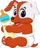 Desenhos animados bonitos do cão ilustração royalty free