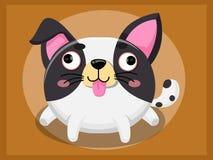 Desenhos animados bonitos do cão Caráteres engraçados dos desenhos animados e do animal do vetor Imagem de Stock