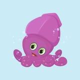 Desenhos animados bonitos do calamar Foto de Stock