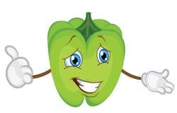 Desenhos animados bonitos do caráter da pimenta ilustração do vetor da pimenta imagem de stock royalty free