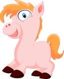 Desenhos animados bonitos do cavalo Imagem de Stock Royalty Free