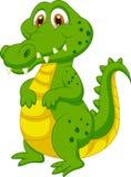Desenhos animados bonitos do crocodilo ilustração royalty free