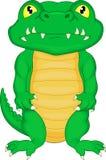 Desenhos animados bonitos do crocodilo do bebê Foto de Stock