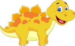 Desenhos animados bonitos do dinossauro Imagens de Stock Royalty Free