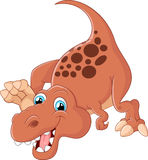 Desenhos animados bonitos do dinossauro Imagem de Stock