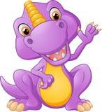 Desenhos animados bonitos do dinossauro Fotografia de Stock