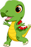 Desenhos animados bonitos do dinossauro do bebê Fotos de Stock