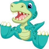 Desenhos animados bonitos do dinossauro do bebê Foto de Stock Royalty Free
