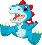 Desenhos animados bonitos do dinossauro do bebê Fotos de Stock Royalty Free