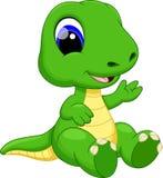 Desenhos animados bonitos do dinossauro do bebê Fotografia de Stock