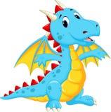 Desenhos animados bonitos do dragão Imagens de Stock Royalty Free