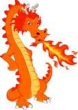 Desenhos animados bonitos do dragão do fogo Imagens de Stock Royalty Free