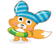Desenhos animados bonitos do esquilo ilustração stock