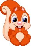 Desenhos animados bonitos do esquilo do bebê ilustração do vetor