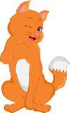 Desenhos animados bonitos do gato Fotografia de Stock