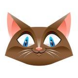 Desenhos animados bonitos do gato ilustração stock