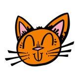 Desenhos animados bonitos do gato ilustração royalty free