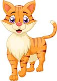 Desenhos animados bonitos do gato Imagens de Stock Royalty Free