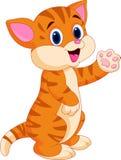 Desenhos animados bonitos do gato do bebê Fotos de Stock Royalty Free