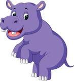 Desenhos animados bonitos do hipopótamo Imagem de Stock