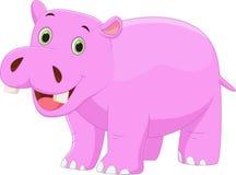 Desenhos animados bonitos do hipopótamo Fotos de Stock Royalty Free