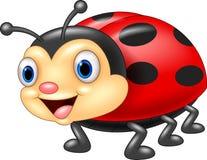 Desenhos animados bonitos do ladybug ilustração do vetor