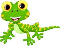 Desenhos animados bonitos do lagarto Imagens de Stock