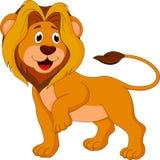 Desenhos animados bonitos do leão ilustração royalty free