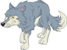 Desenhos animados bonitos do lobo Fotos de Stock Royalty Free