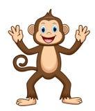 Desenhos animados bonitos do macaco ilustração stock