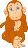 Desenhos animados bonitos do macaco Imagens de Stock