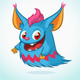 Desenhos animados bonitos do monstro Caráter do vetor Fotografia de Stock Royalty Free