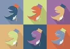 Desenhos animados bonitos do monstro do dinossauro Fotos de Stock Royalty Free