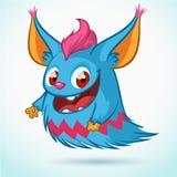 Desenhos animados bonitos do monstro Mascote do vetor Foto de Stock Royalty Free